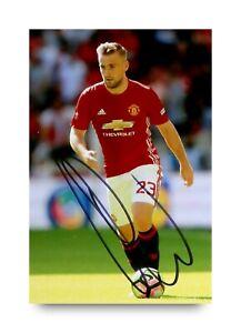 Luke-Shaw-Signed-6x4-Photo-Manchester-United-Genuine-Autograph-Memorabilia-COA