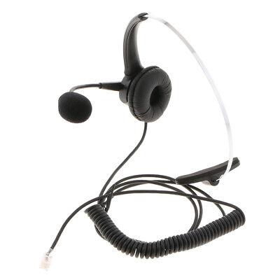 RJ9 Call Center Office Noise Cancelling Headset / Headphone Desk Telephone  | eBay