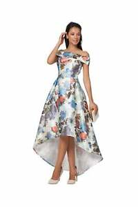 New-Long-Off-shoulder-Wedding-Formal-Floral-Eve-Prom-Maxi-Party-Dress-Size-8-16