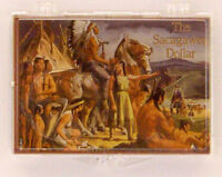 Sacagawea Chief Painting, 2x3 Snap Lock Coin Holders, 3 Pack