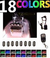 8pc Color Changing Boat Led Interior Neon Light Pod Kit For Yacht Pontoon Marine