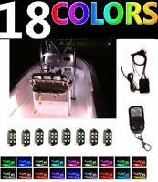 8pc Color Changing Boat Led Interior Neon Light Pod Kit For Yacht Pontoon Marine
