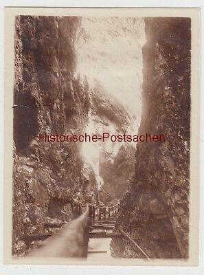 (f14309) Orig. Foto Leutaschklamm 1911