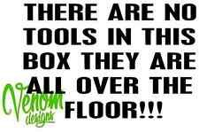 TOOLS OVER FLOOR Tool Box Sticker Transfer /Vinyl Wall Art Decal Graphic Funny