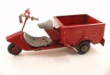 FAUVEL France SCOOTER Triporteur en tôle 18 cm Tin Toy RARE