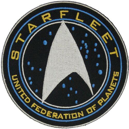 "Star Trek Starfleet UFP EMBROIDERED PREMIUM QUALITY 4/"" SEWN//IRON PATCH"
