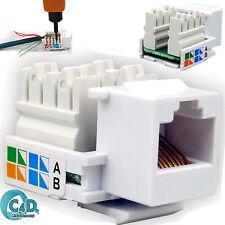 10x RJ45 Keystone Jack Wall End Plug Cat 5e Ethernet LAN Network Module Adapter