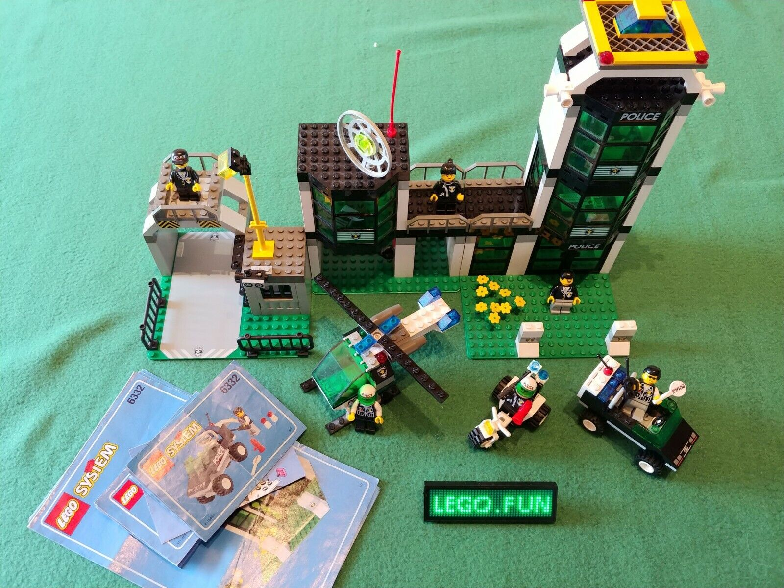 LEGO® 6332 große Polizei-Station +OBA   Police Command post central +Instr. City