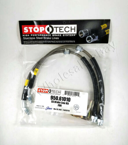FRONT REAR STAINLESS STEEL BRAKE LINE KIT FOR 04-13 MAZDA3 MAZDA 3 STOPTECH