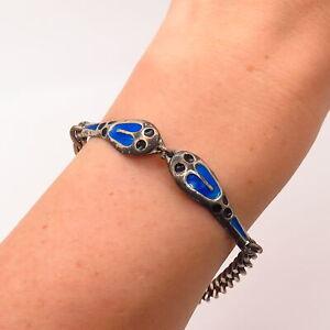 Vintage Sterling Silver Snake Link Bracelet