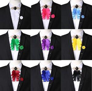 50-70% de réduction Achat/Vente style à la mode Détails sur Unisexe Cravate Mariage Smoking Nœud Papillon à Clipser Broche  Épinglette