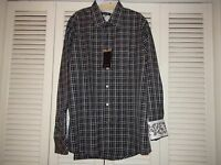 Zagiri Kms-2268 American Band Sport Shirt Charcoal $145 100% Cotton Sz 2xl