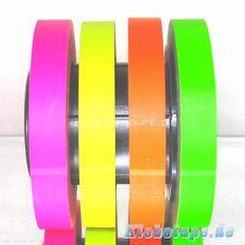 4x Neon Gaffa UV Gewebeklebeband 19mm x 25m Markierungsband Fluoreszierend