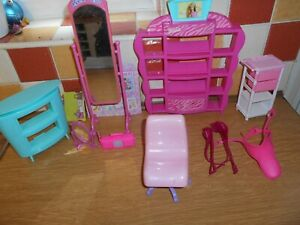 Collection-of-Barbie-and-other-Furniture-Saddles-etc