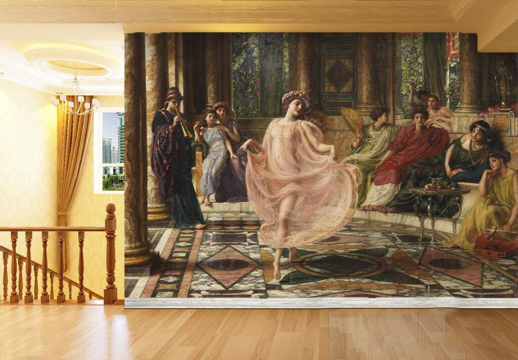 3D Tanzenmädchen 4354  Fototapeten Wandbild Fototapete BildTapete Familie