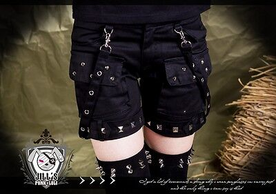 punk rock heavy metal EMO Radirgy Noa Massive unisex rivet work shorts GA250