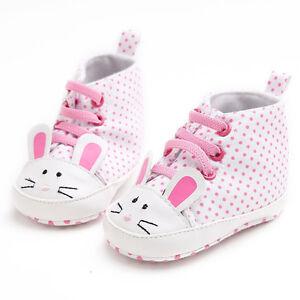 Baby Girl Canvas Shoes Sneaker Anti-slip Soft Crib Sole Toddler Shoes Prewalker