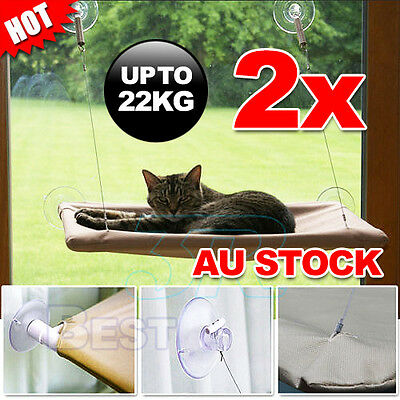 2X Comfortable Cat Window Bed Sunny Seat Pets Wall Home Hammock Cover Washable
