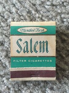 Image Is Loading DD Bean RJ Reynolds Salem Matchbook Matches Menthol