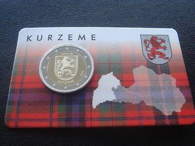 "Kurzeme/"" BiMetallic UNC Latvia 2 euro 2017 /""Regions series"