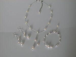 sulle immagini di piedi di spedizione gratuita più amato Détails sur Parure Bijoux Ivoire/Cristal Mariage/Cérémonie perles style  culture pas cher