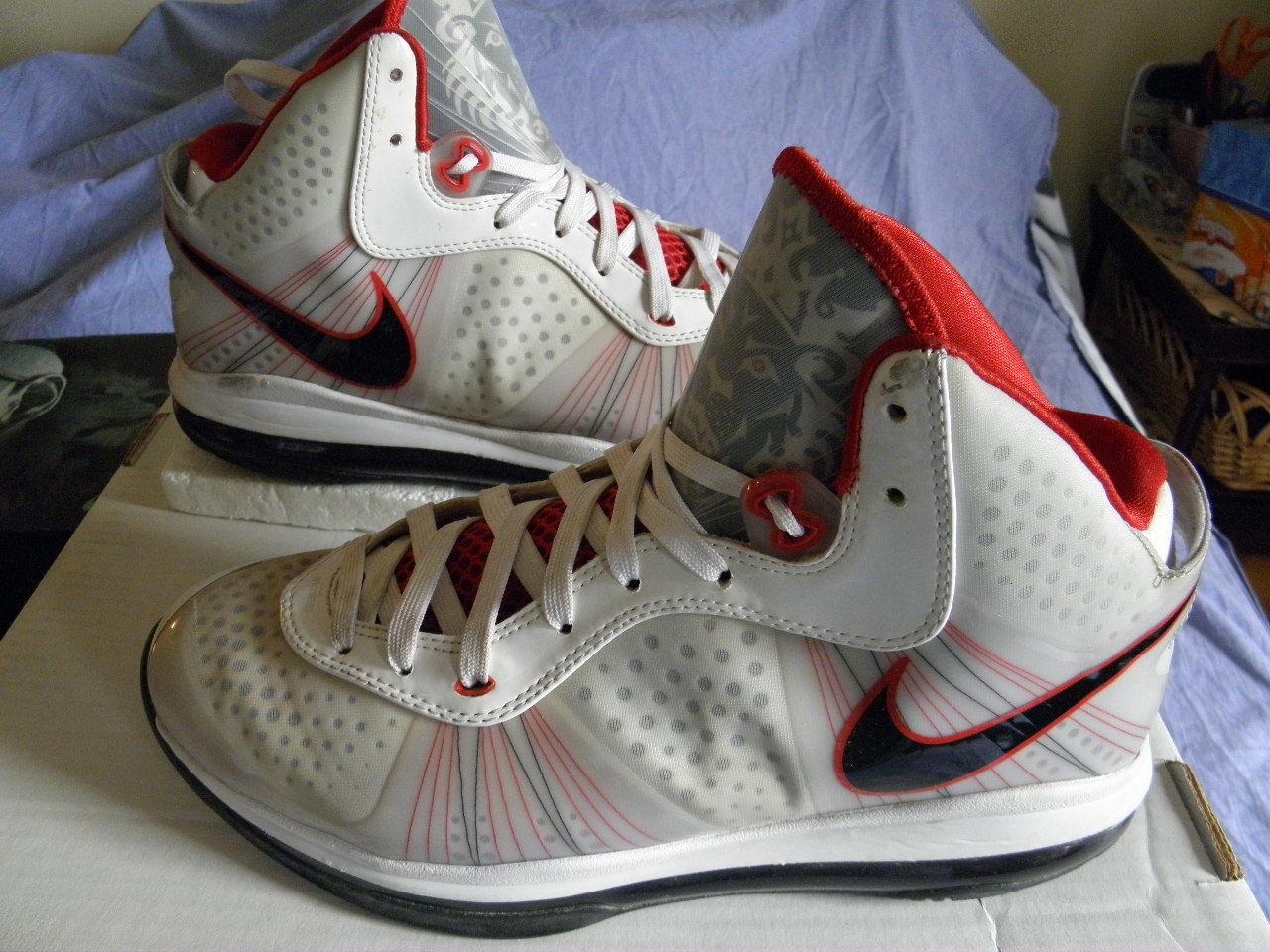 02aa1d8591 Nike Air LeBron VIII 8 V2 Heat Home size 10.5 EUC Box All Star Entourage  Yankees
