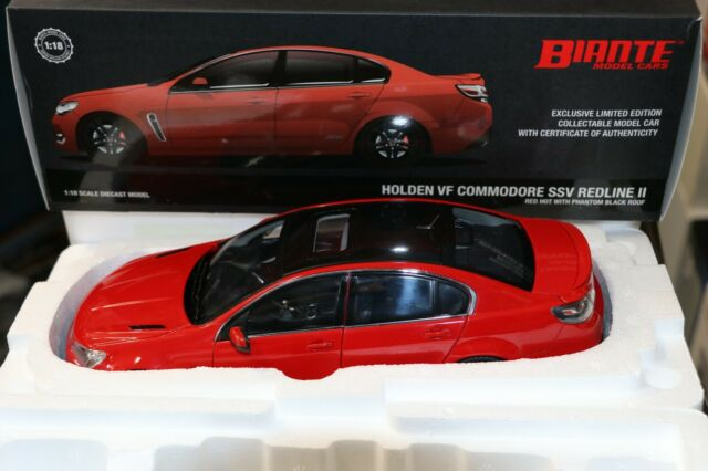 1:18 BIANTE HOLDEN VF COMMODORE SSV REDLINE II SEDAN BLACK DIECAST CARS