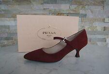 Prada 37 Escarpins chaussures avec sangle purple porpora NEUF