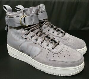 quality design 3ed4b fa0bf Details about Nike SF Air Force 1 Mid Men Gunsmoke Wolf Grey Sneakers  917753-007 Size 8