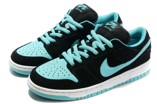 2012 Nike Dunk Low Pro SB SZ 12 Black Clear Jade Diamond Supply Tiff 304292- 62b70d4b8a
