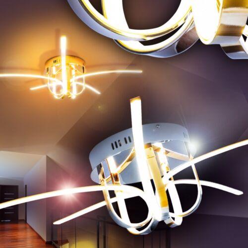 LED Deckenleuchte Design Deckenlampe Leuchte Lampe Chrom Deckenstrahler Zimmer