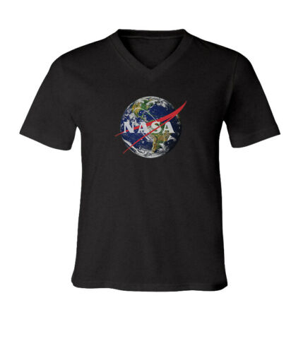 NASA Earth Men Women Unisex V-Neck Short Sleeve Top Tee T-Shirt