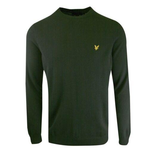 BNWT Lyle /& Scott Forest Green Merino Crew Knitted Jumper XL KN400V RRP £80