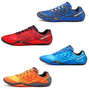Merrell-Trail-Glove-4-entrenadores-en-Nautica-y-deporte-Azul-Molten-Lava-Rojo-Y-Naranja