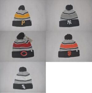 8593fa6d06c New  47 Brand MLB Sport Team Mens Knit Cuffed Cap Winter Beanie Pom ...