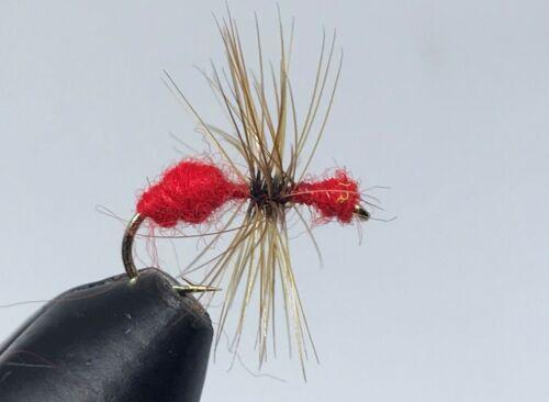Fliegentom Dry Fly 3 Pack-Extended Body Brown Sedge