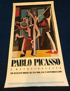 vintage picasso poster MOMA 1980