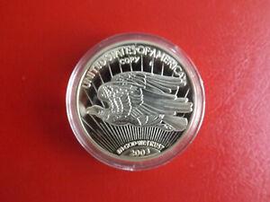 * Usa Gold Eagle 1933 * Pièce De Monnaie/médaille Pp Plaqué Or 2003 * Environ 40 Mm (kof5)-e Pp Vergoldet 2003 * Ca.40mm (kof5) Fr-fr Afficher Le Titre D'origine