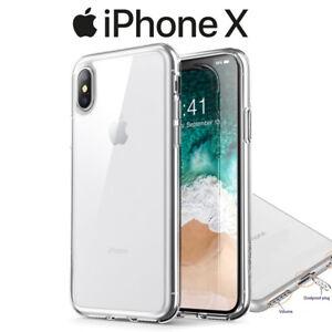 Funda-Carcasa-Gel-Silicona-Transparente-con-Antipolvo-para-iPhone-X