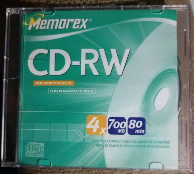 NEW Memorex CD-RW 700MB 80 min. Rewritable/Reinscriptible