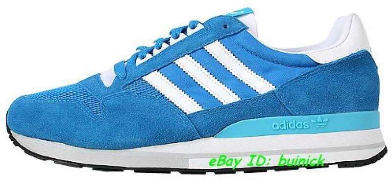 ADIDAS ZX 500 bluee-White Suede-Mesh running training marathon sneakers new