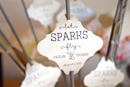 Set of24 Sparkler Tags,Sparkler Exit,Let Love Sparkle,Let Love Shine,Customized