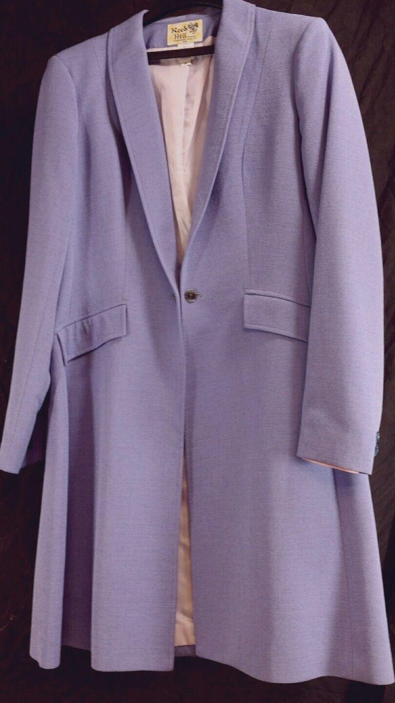 Reed Hill Saddlesitze Day Coat LILAC   LIGHT lila Poly Linen Weave Größe 12 USA