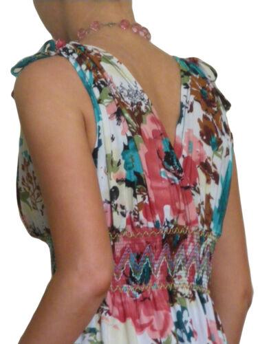 Damen Boho Maxi Kleid Sommer Größe 10 12 14 16