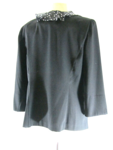 Ruffle Black Miss pc Size Jacket Sexy Mock Blazer Dorby Blouse Sz Top 2 2 Coat CAAXwfq
