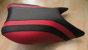 BLACK /& ORANGE CUSTOM FITS SUZUKI TL 1000 S 97-01 FRONT LEATHER SEAT COVER