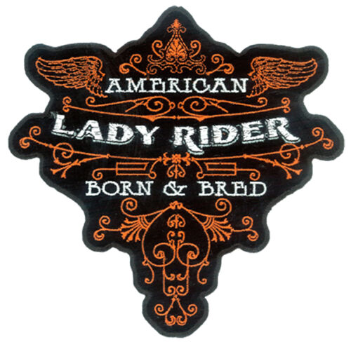 EMBROIDERED LADY RIDER BORN /& BRED PATCH 3300 patches motorcycle badges NEW