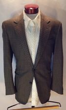 B630 Vintage Men's I. Magnin The Shop for Men Green Houndstooth Blazer 44R USA