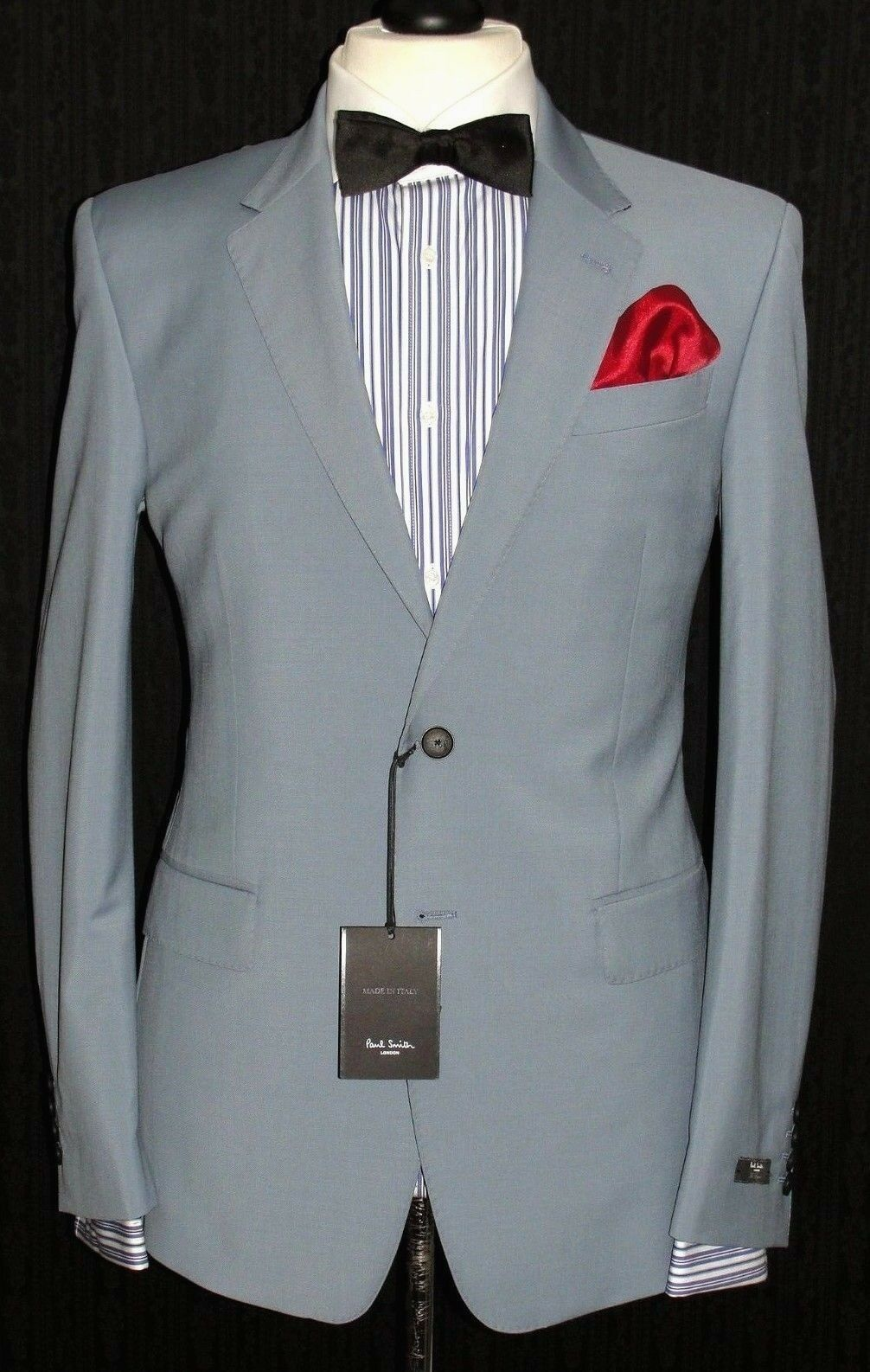 BNWT  Herren PAUL SMITH LONDON THE BYRAD FIT 2018 EDITION BABY Blau SUIT 40R W34