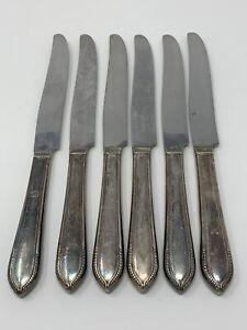WM Rogers & Son, AA ist Silverplate, 1938 georgic 6 Platz Dinner KNIVES Messer